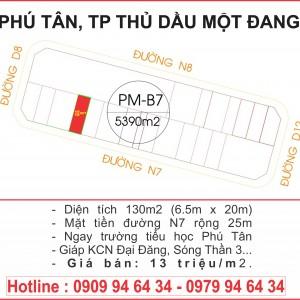 Lô PM-B7 thửa 149 tờ 84 đường N7 Phú Tân, thành phố Thủ Dầu Một