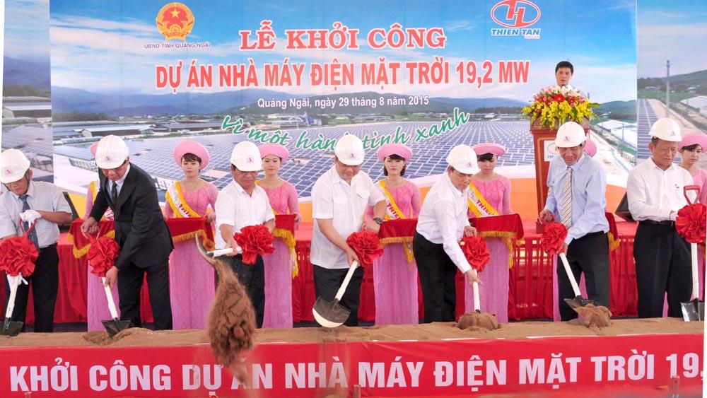 Khởi công Dự án nhà máy điện mặt trời đầu tiên ở Việt Nam