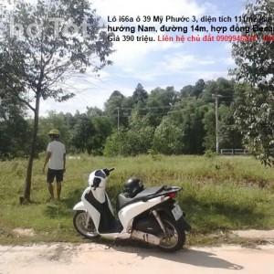 Lô i66a ô 39 Mỹ Phước 3, diện tích 111m2 (6m x 18,5m) hướng Nam, đường 14m, hợp đồng Becamex ITC giá rẻ. Liên hệ 0909946434